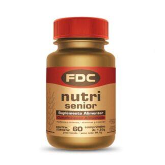 FDC Nutri Senior 60 Comprimidos, fórmula que contém todas as vitaminas, minerais e outros ingredientes essenciais ao bom funcionamento do organismo, promovendo o bem-estar generalizado.