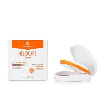 Heliocare Compacto Spf 50 Oil-Free Claro 10gr, fotoimunoproteção diária, natural e elevada contra os raios UVB e UVA