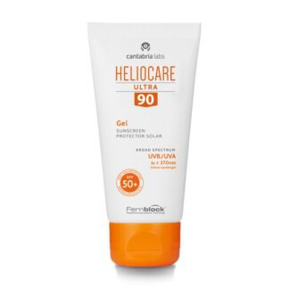 Heliocare Ultra 90 Gel SPF50+ 50ml, textura leve e de rápida absorção não comedogênica é perfeita para todos os tipos de pele, especialmente mista ou oleosa