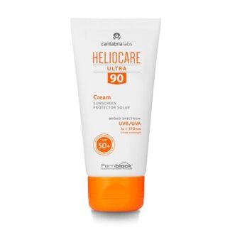 Heliocare Ultra 90 Creme SPF50+ 50ml, textura cremosa, perfeita para peles normais ou secas, nutre e hidrata sem sensação de peso na pele e sem deixar resíduos brancos o