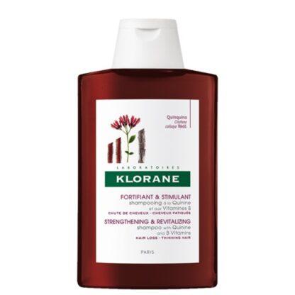 Klorane Champô Ritual Quinina e Vitaminas B 400ml, favorece o crescimento do cabelo graças à ação conjunta da Quinina com as Vitaminas B. Um verdadeiro concentrado de força que devolve vigor e resistência ao cabelo, facilitando o desembaraçar.