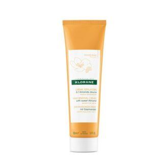 Klorane Creme Depilatório Amêndoas Doces é nutritivo e suavizante devido às amêndoas doces, protegendo a pele durante a depilação.
