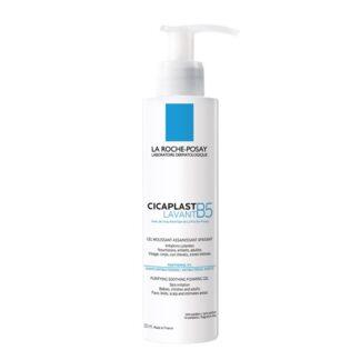 La Roche Posay Cicaplast Gel Lavante B5 200ml, espuma ultra suave com a finalidade de acalmar e purificar a pele irritada e frágil dos adultos, crianças e bebés.