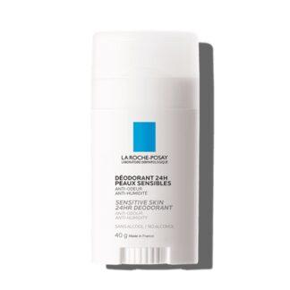La Roche Posay Desodorizant Stick 40 ml,garante certamente24 horas de eficácia anti-humidade e anti-odor. Além disso não contém sais de alumínio, sem álcool e sem parabenos.