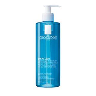 La Roche Posay Effaclar Gel Mousse Purificante 400 ml, com a finalidade de eliminar as impurezas e excesso de sebo. Além disso é especialmente concebido para pele oleosa e sensível.