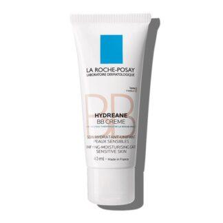 La Roche Posay Hydreane BB Creme Tom Claro 40 ml, com a finalidade de hidratar e uniformizar a pele. Ainda assim é especialmente concebido para a pele sensível, mesmo que seja indicado a todos os tipos de pele.