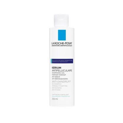 La Roche Posay Kerium Caspa Oleosa 200 ml,com a finalidade deeliminar a caspa oleosa localizada e visível. Além disso restaura o equilíbrio fisiológico do couro cabeludo.