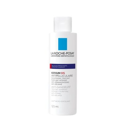 La Roche Posay Kerium DS Anti-Caspa Intensivo 125 ml,com a finalidade de remover a caspa persistente. Além disso limpa em profundidade e alivia o couro cabeludo.