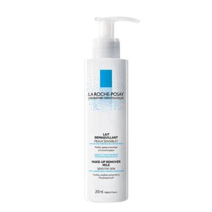 La Roche Posay Leite Desmaquilhante Fisiológico 200 ml,com a finalidade de remover a maquilhagem de forma macia para pele sensível seca ou muito seca. De tal forma que é adequado para remover maquilhagem resistente à água.