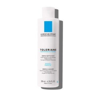 La Roche Posay Toleriane Dermo-Nettoyant 200 ml, fluido de limpeza e desmaquilhante de rosto. Pode ser enxaguado ou removido com algodão ou um lenço de papel.