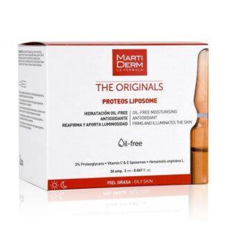 Martiderm The Originals Proteos Liposome 30 Ampolas, certamenteindicadas para a pele mista/oleosa e sensível