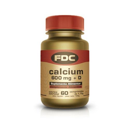 FDC Cálcio 600 Vitamina D 60 Comprimidos