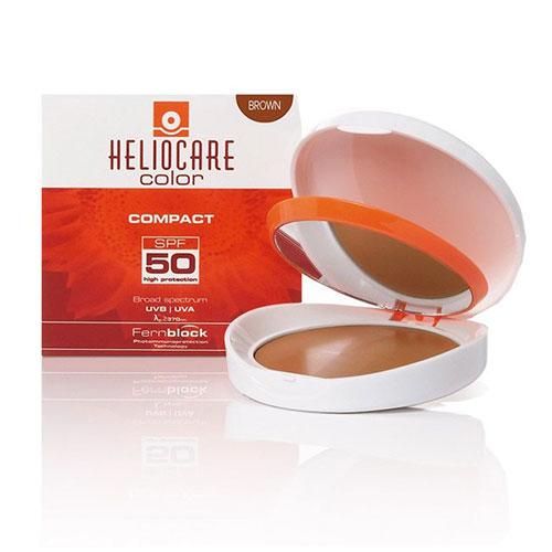 Heliocare Compacto Spf 50 - Escuro 10gr, fotoimunoproteção alta contra os raios UVB e UVA, com propriedades antioxidantes e reparadoras adicionais devidas