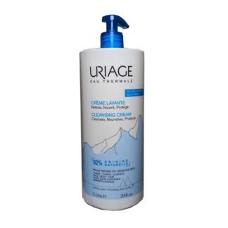 Uriage Creme Lavante 1000ml, higiene suave sem sabão.Agradavelmente perfumado, um cuidado 2 em 1, limpa e hidrata e deixa a pele em suave.