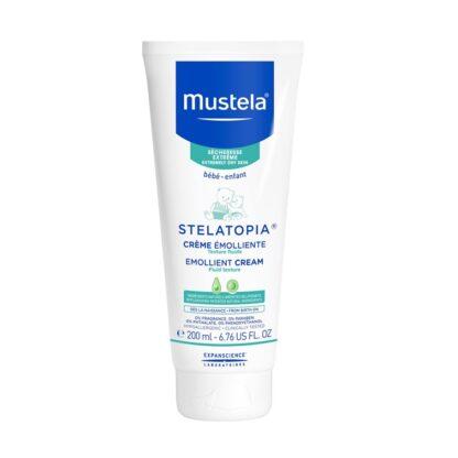 Mustela Stelatopia Creme Emoliente 200ml,com a finalidade de garantir um cuidado emoliente, para o rosto e corpo. Incluindo aliás, bebés provenientes da neonatologia.
