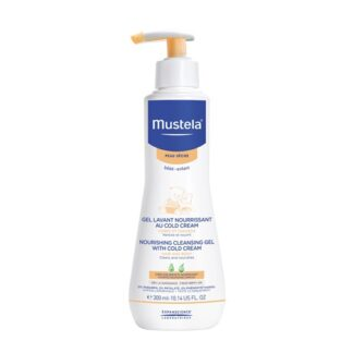 Mustela Cold Cream Gel Lavante 300ml, gel lavante nutritivo com cold cream para bebés e crianças. Este gel lavante nutritivo, para corpo e cabelo, é certamente indicado para utilização diária, desde o nascimento.
