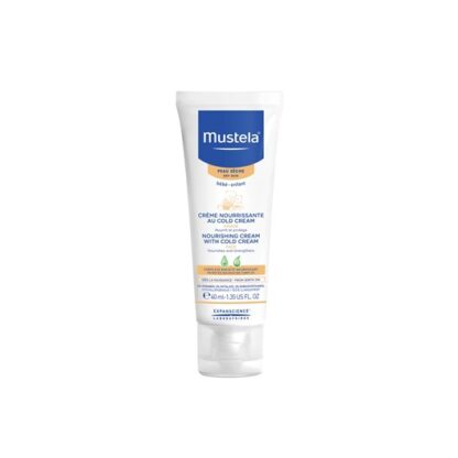 Mustela Cold Cream Nutri Protector 40ml,creme de rosto com a finalidade de hidratar e nutrir a pele dos bebés e crianças. Com cold cream para cuidado diário, desde o nascimento.