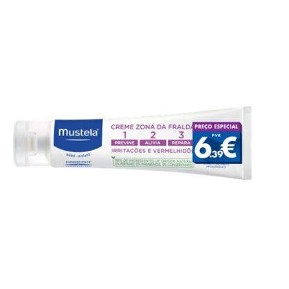 Mustela Creme Zona da Fralda 123 150ml, com a finalidade de proporcionar um cuidado completo para a epiderme das nádegas. Além disso poderá contar com 3 fatores: prevenção, alivio e reparação.