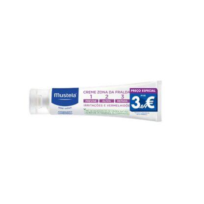 Mustela Creme Zona da Fralda 123 50ml,com a finalidade de proporcionar um cuidado completo para a epiderme das nádegas. Além disso poderá contar com 3 fatores: prevenção, alivio e reparação.