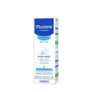 Mustela Hydra Bebé Rosto 40ml, creme de rosto com a finalidade de hidratar a pele de bebés e crianças, desde o nascimento. Proporciona um efeito hidratante imediato,bem como, prolongado.