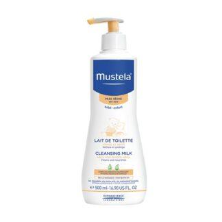 Mustela Leite de Limpeza 500 ml,leite de limpeza certamente suave para o rosto e nádegas dos bebés e crianças, desde o nascimento.