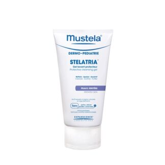Mustela Stelatria Gel Lavante Protector 150ml,com a finalidade de limpar com suavidade, aliviar as irritações e purificar a pela em zonas irritadas.