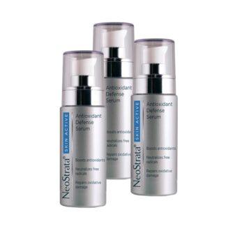 Neostrata Skin Active Pack Antioxidante 3x30ml, serum de alta performance formulado com 8 poderosos ingredientes que atuam sinergisticamente para uma proteção antioxidante de amplo espectro: