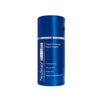 Neostrata Skin Active Pescoço 80g, creme refirmante especificamente desenvolvido para as zonas do pescoço e decote, formulado com uma tripla tecnologia de eficácia científica comprovada na reconstrução da matriz dérmica