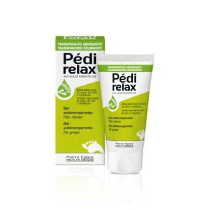 Pedi Relax Gel Anti-Transpirante 50ml, não oleoso, com óleos essenciais de cravo-da-Índia e de melaleuca, conhecidos pelas suas propriedades purificantes, está especialmente adaptado nos casos de transpiração excessiva.
