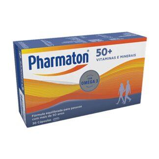 Pharmaton 50+ é um multivitamínico completo e equilibrado com vitaminas, minerais, ómega 3 (EPA e DHA)