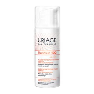 Uriage Bariésun 100 Fluido Proteção Extrema SPF50+ 50ml, toda a expertise Uriage para proteger a pele intolerante ao sol.