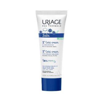 Uriage Bebé Primeiro Cold Cream 75ml, textura untuosa e não oleosa, cuidado que protege o rosto e corpo no dia-a-dia