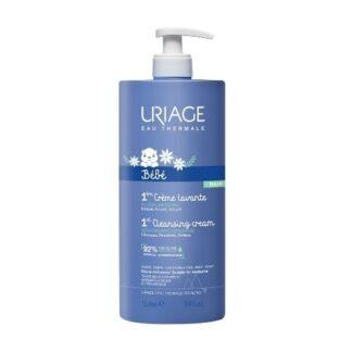 Uriage Bebé Primeiro Creme Lavante 1000ml, agradavelmente perfumado, deixa a pele perfeitamente limpa, suave e hidratada. Recomendado e utilizado em maternidades.