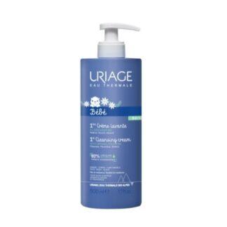 Uriage Bebé Primeiro Creme Lavante 500ml, agradavelmente perfumado, deixa a pele perfeitamente limpa, suave e hidratada. Recomendado e utilizado em maternidades.