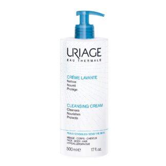 Uriage Creme Lavante 500ml, higiene suave sem sabão.Agradavelmente perfumado, um cuidado 2 em 1, limpa e hidrata e deixa a pele em suave.