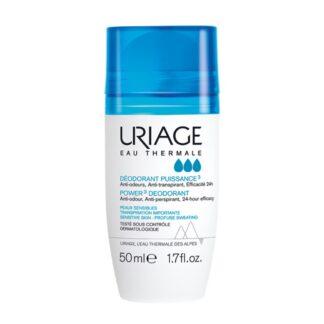 Uriage Desodorizante Roll-On Forte 50ml, atua na transpiração durante 24 horas. Anti-manchas brancas, anti-manchas amarelas, anti-efeito de endurecimento na roupa.