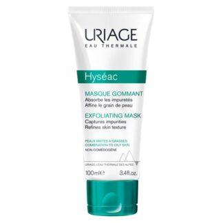 Uriage Hyseac Mascara Exfoliante 100ml , a máscara exfoliante permite uma utilização à escolha : a eficácia absorvente de uma máscara e a acção de limpeza profunda de um exfoliante para um duplo efeito sobre a pele