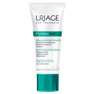 Uriage Hyseac Mat Cuidado Matificante 40ml é um cuidado matificante com uma textura entre um gel e um creme delicadamente perfumado