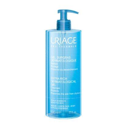 """Uriage Sabonete Líquido Dermtologique 500ml, fresco e ultra-suave o """"surgrais liquide"""" limpa e melhora o conforto da pele respeitando o filme hidrolipidico"""