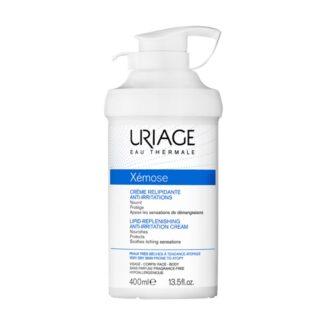 Uriage Xemose Creme Emoliente 400ml este creme nutritivo e protetor diminui o prurido que leva à necessidade de coçar oferecendo um conforto duradouro.