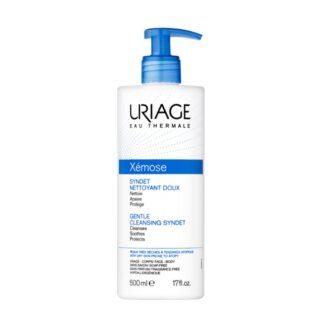 Uriage Xemose Synet Gel Creme de Limpeza Suave 500ml este gel-creme suavizante foi especificamente formulado para a higiene diária da pele muito seca ou com tendência atópica.