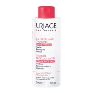 Uriage Água Termal Micelar Pele Intolerante 500ml, água Termal Micelar com Água Termal de Uriage remove eficazmente a maquilhagem