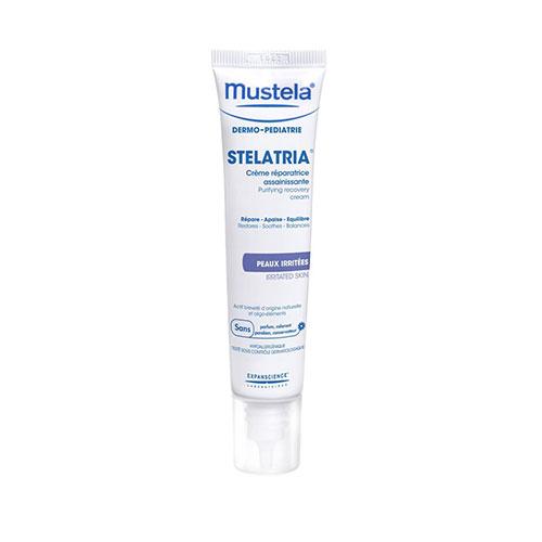 Mustela Stelatria Creme Reparador Purificante 40ml,com a finalidade de aliviar as irritações, reparar a pele e equilibrar a flora cutânea.
