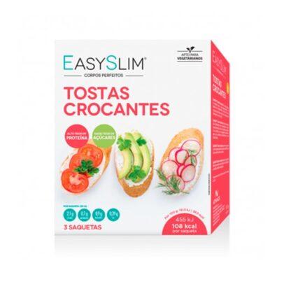 EasySlim Tostas Crocantes 3 Saquetas, práticas e fáceis de transportar, EasySlim®Tostas podem ser consumidas com a maior facilidade. São ideais como entrada/aperitivo e uma alternativa saudável ao pão.