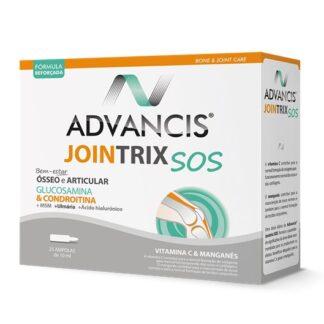 Advancis Jointrix SOS 25 Ampolas,suplemento alimentar. Com a finalidade de aliviar rapidamente a dor e a inflamação e regenerar as cartilagens. Ainda assim permite uma ação SOS.