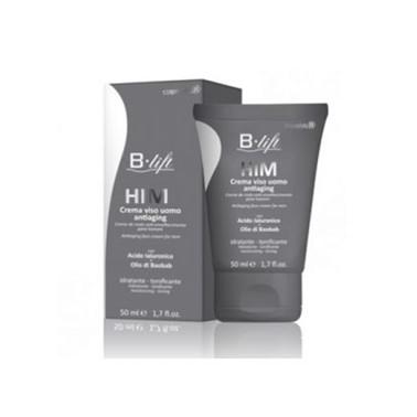 B-Lift Homem Creme Rosto Anti-Rugas 50ml, creme de rosto para homem com efeito anti-envelhecimento, contém os ativos Hexapéptido B e Antarciticina, que atuam ao nível das rídulas e rugas