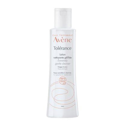 Avène Tolérance Loção Limpeza Gelificada 200ml, loção de limpeza e remoção de maquilhagem para pele sensível a reativa.