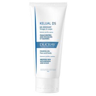 Ducray Kelual DS Gel Espuma Anti-Prurido 200ml, cuidado de higiene diária de tripla ação, da pele irritada com vermelhidões e descamação