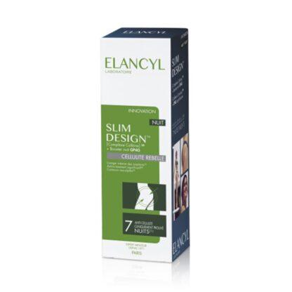 Elancyl Slim Design Noite 200ml, cuidado adelgaçante, com ação anticelulítica, indicado para suavizar a celulite e conferir firmeza à pele, durante a noite.