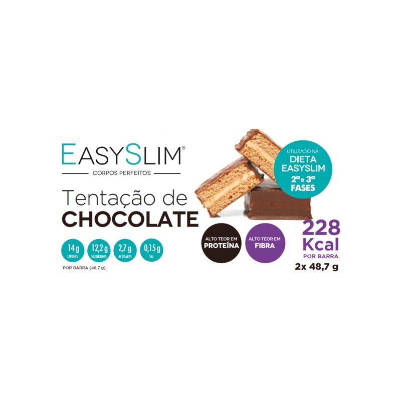 Easyslim Barra de Proteína Tentação de Chocolate 2 Unidades